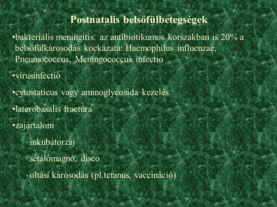 Postnatalis belsőfülbetegségek