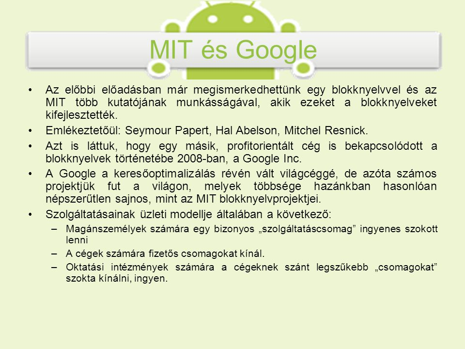 MIT és Google