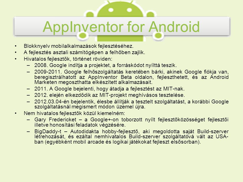 AppInventor for Android