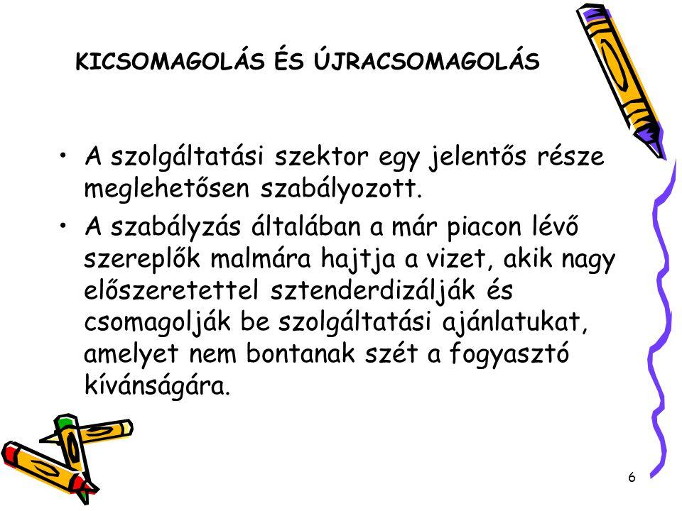 KICSOMAGOLÁS ÉS ÚJRACSOMAGOLÁS