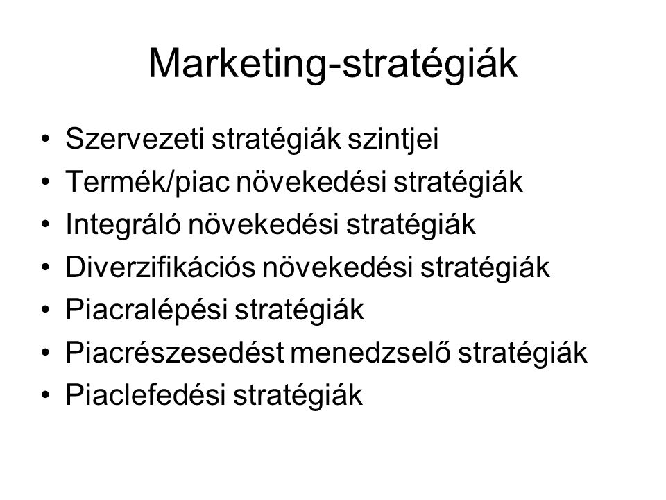 Marketing-stratégiák