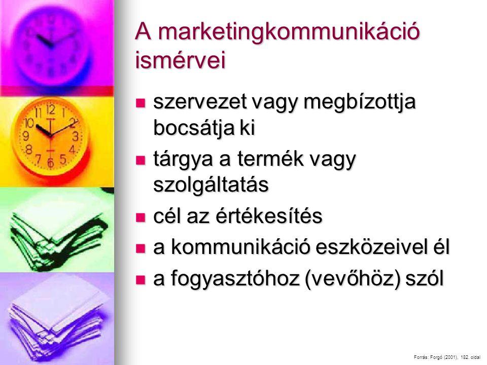 A marketingkommunikáció ismérvei