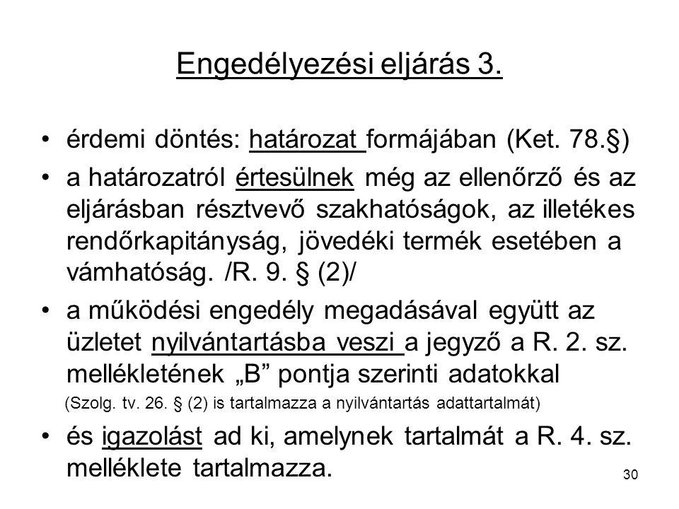 Engedélyezési eljárás 3.