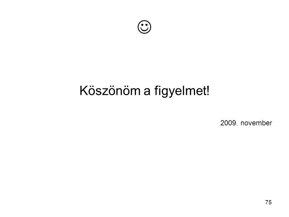  Köszönöm a figyelmet! 2009. november