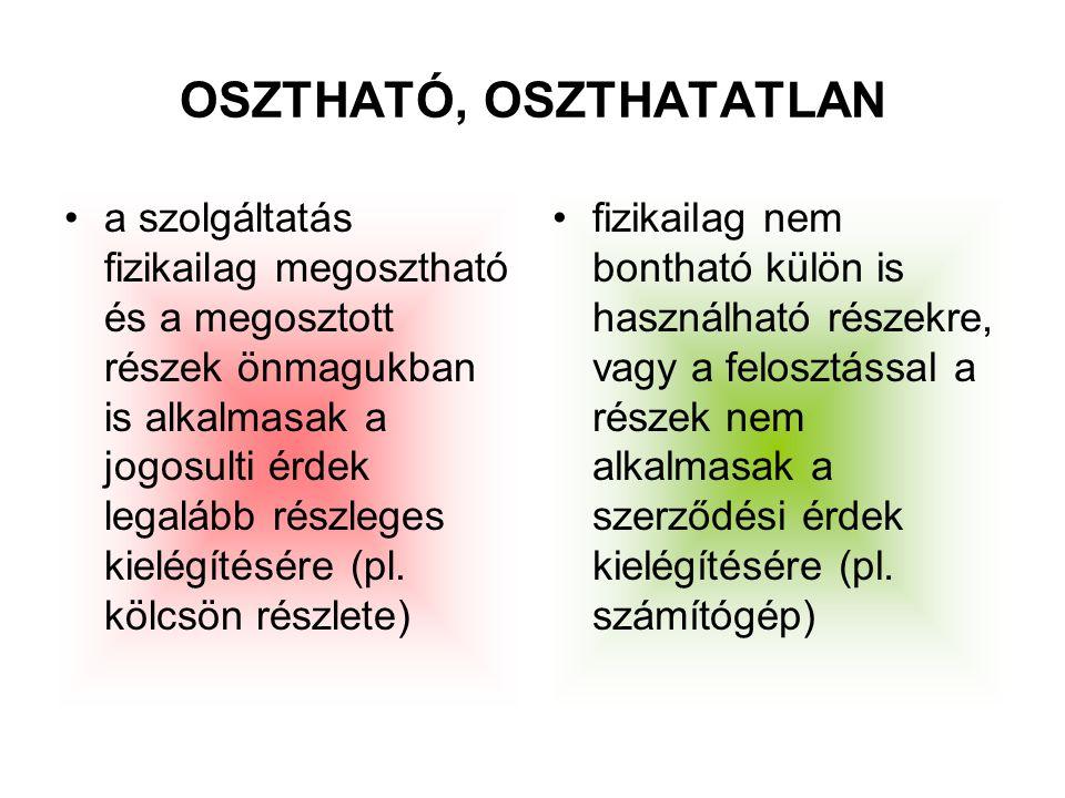 OSZTHATÓ, OSZTHATATLAN