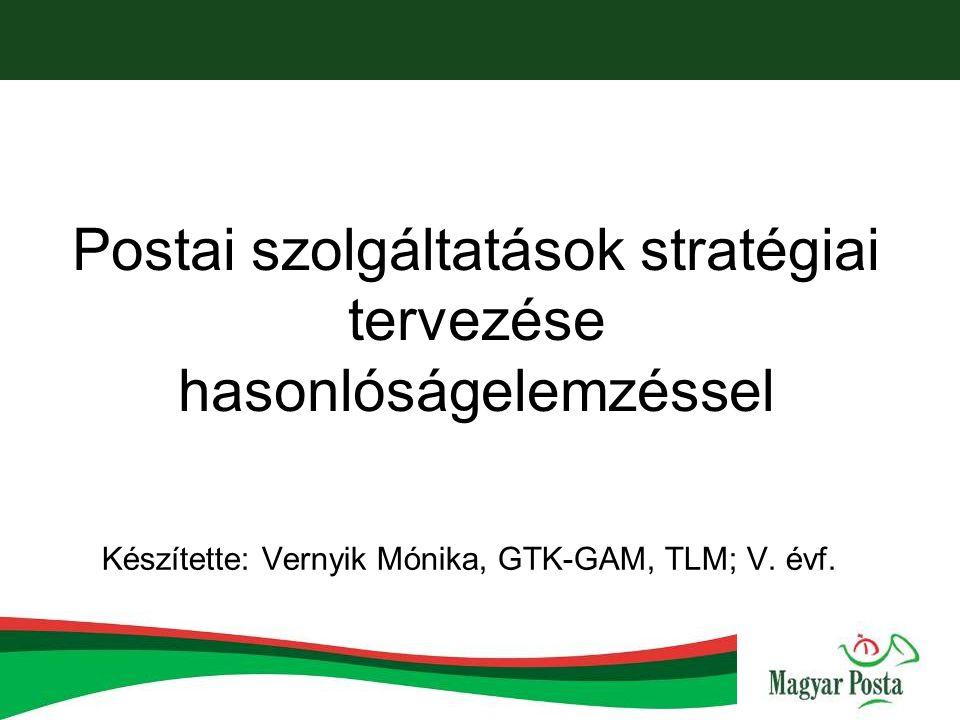 Postai szolgáltatások stratégiai tervezése hasonlóságelemzéssel