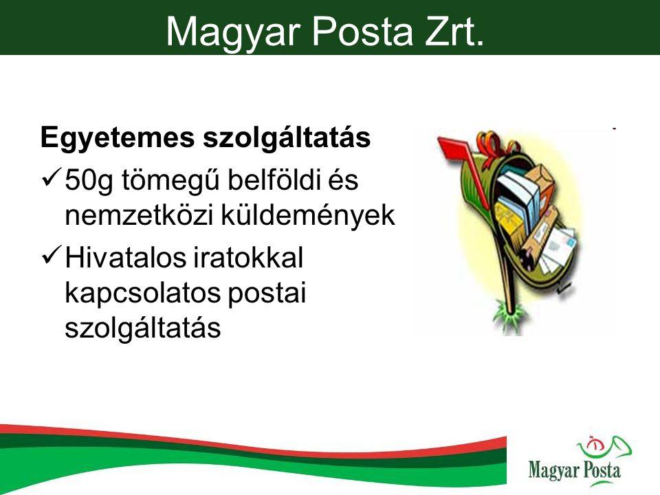 Magyar Posta Zrt. Egyetemes szolgáltatás