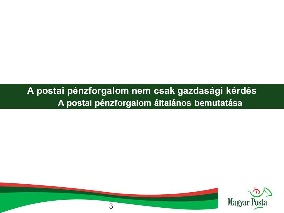 A postai pénzforgalom nem csak gazdasági kérdés A postai pénzforgalom általános bemutatása