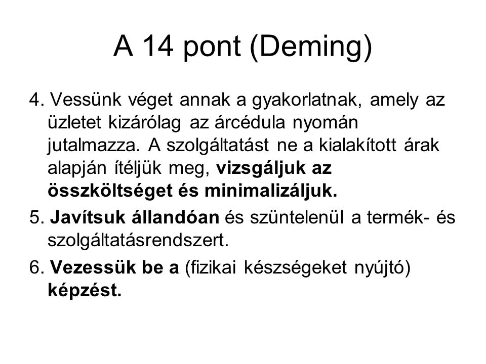 A 14 pont (Deming)