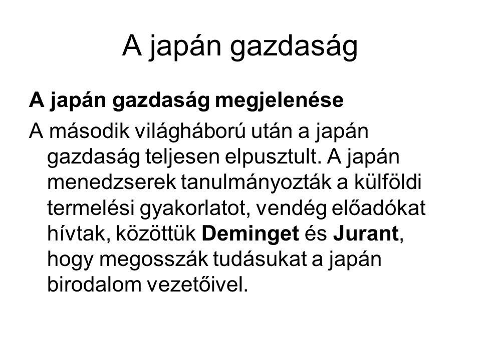 A japán gazdaság A japán gazdaság megjelenése