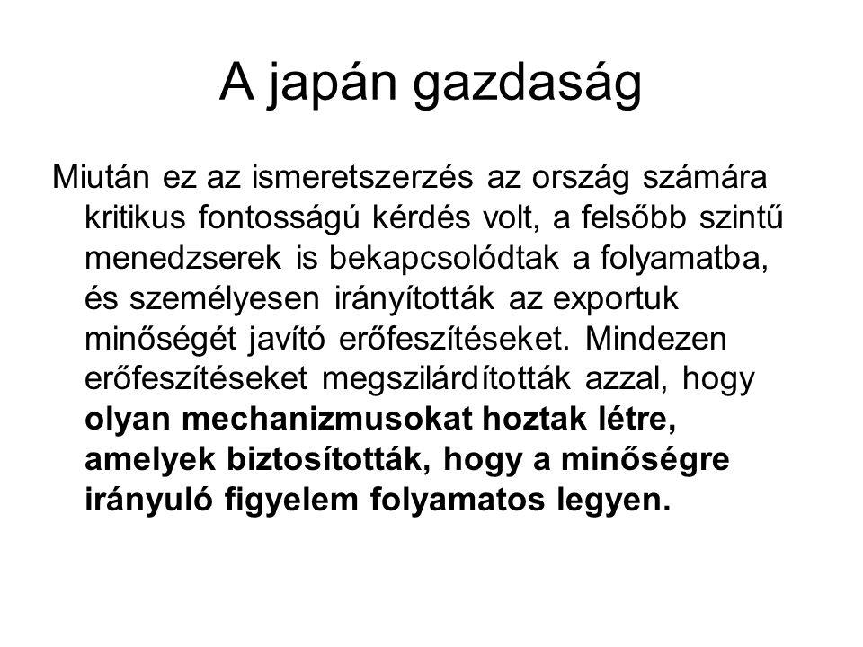 A japán gazdaság