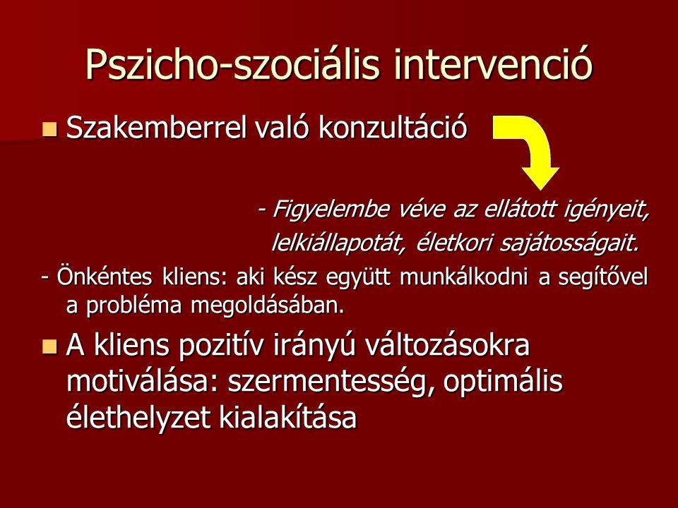 Pszicho-szociális intervenció