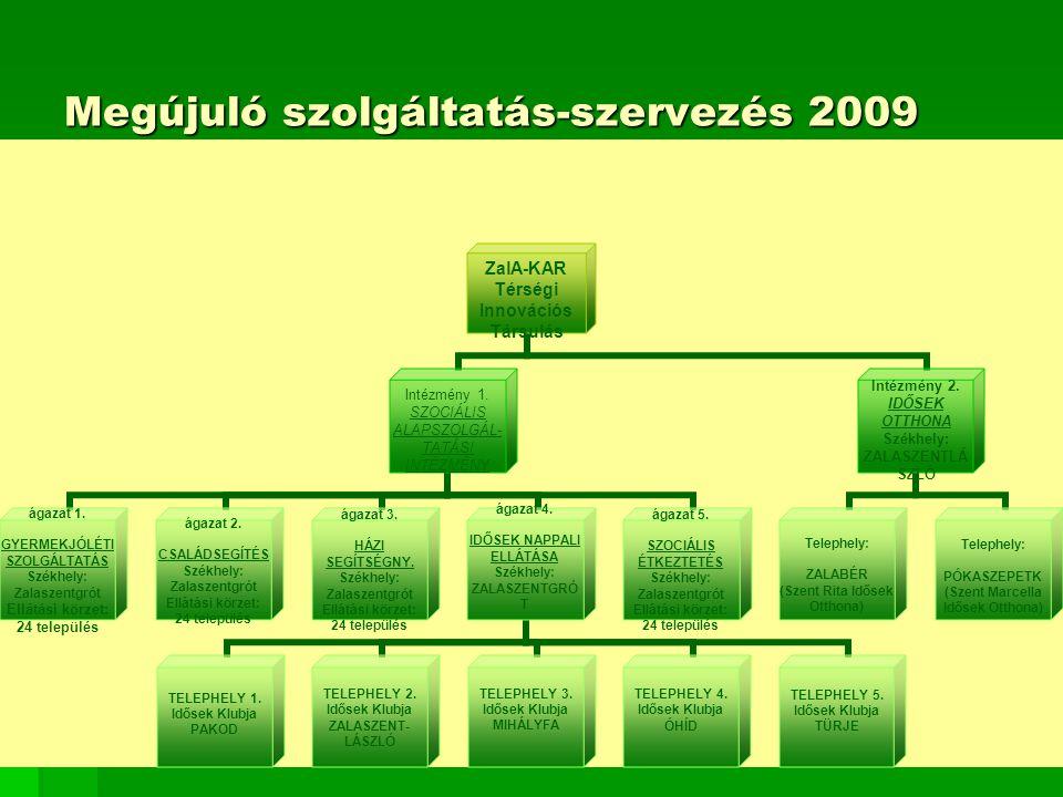 Megújuló szolgáltatás-szervezés 2009