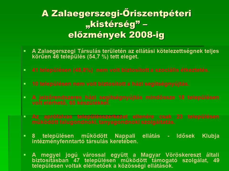 """A Zalaegerszegi-Őriszentpéteri """"kistérség – előzmények 2008-ig"""