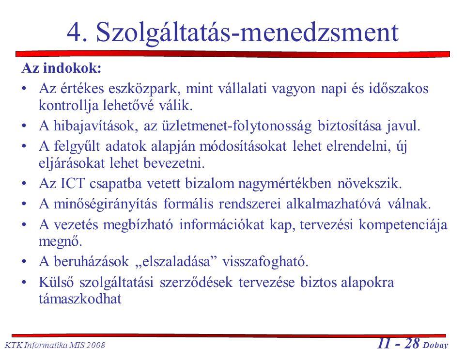 4. Szolgáltatás-menedzsment