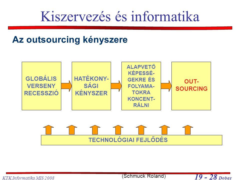 Kiszervezés és informatika