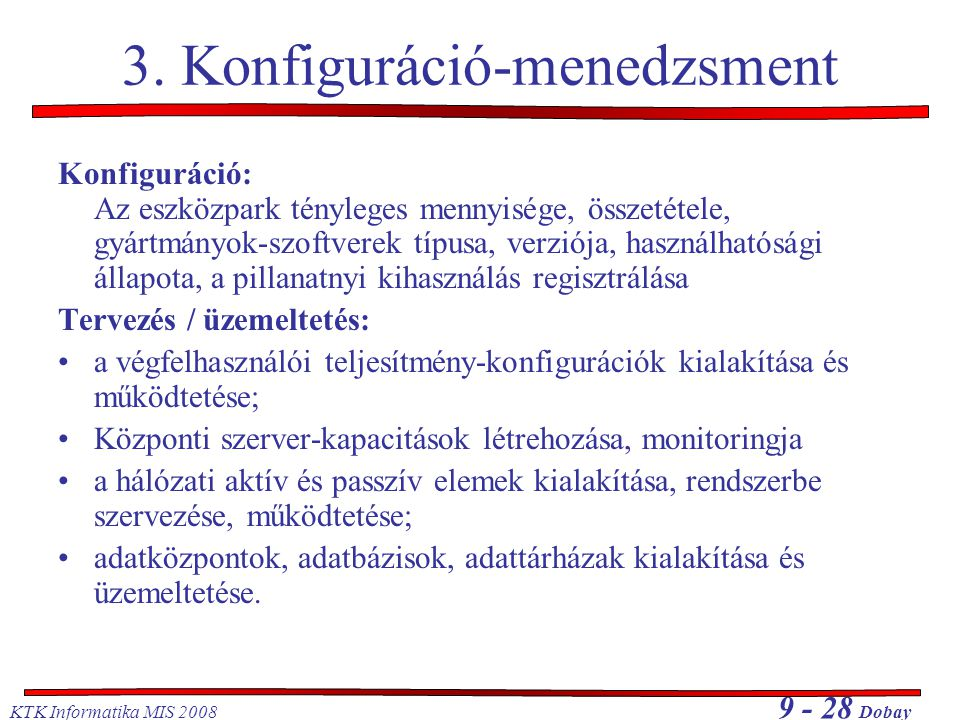 3. Konfiguráció-menedzsment