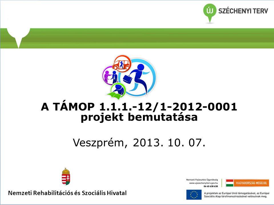 A TÁMOP 1.1.1.-12/1-2012-0001 projekt bemutatása