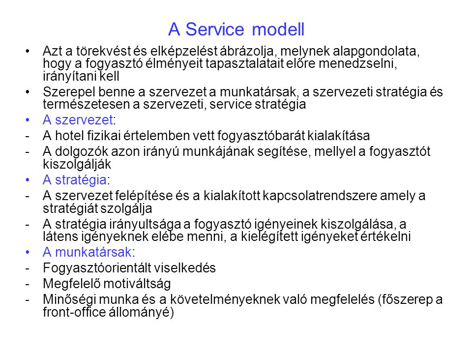 A Service modell