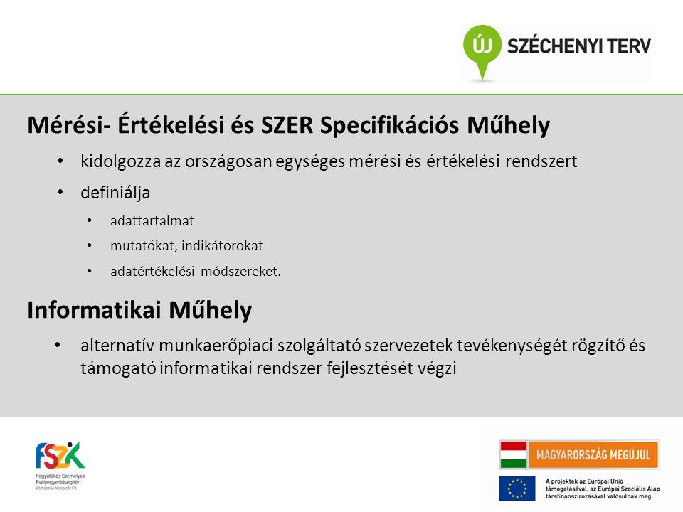 Mérési- Értékelési és SZER Specifikációs Műhely