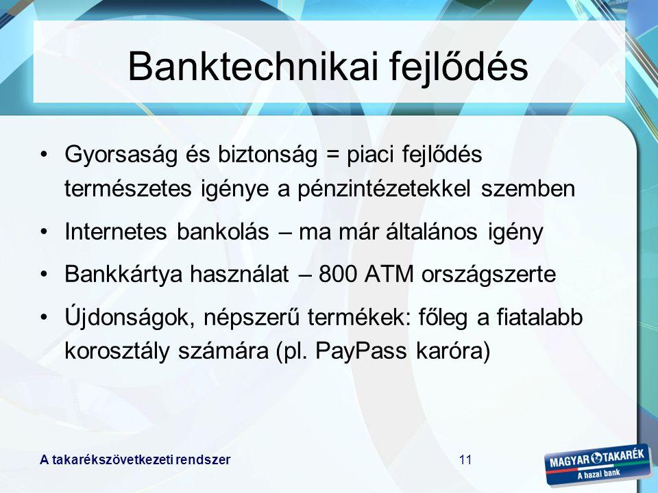 Banktechnikai fejlődés