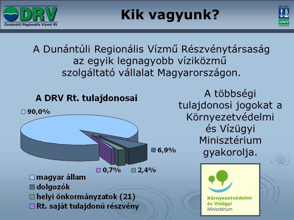 Kik vagyunk A Dunántúli Regionális Vízmű Részvénytársaság