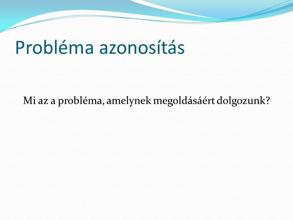 Mi az a probléma, amelynek megoldásáért dolgozunk
