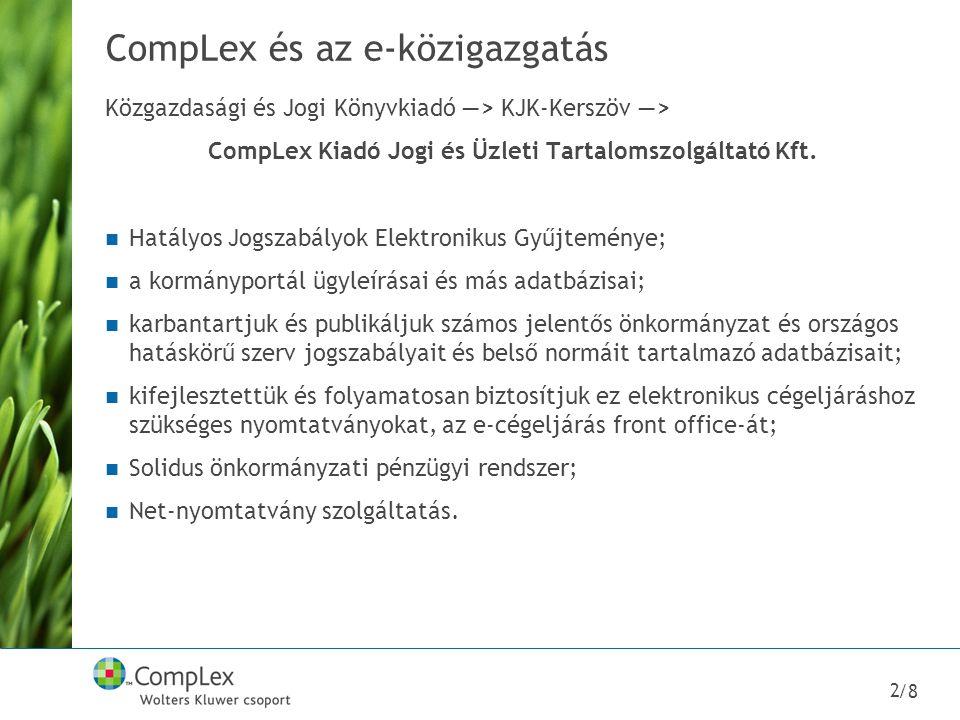 CompLex és az e-közigazgatás