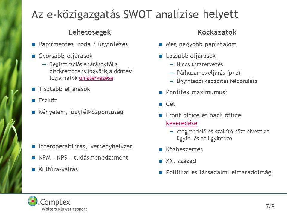 Az e-közigazgatás SWOT analízise