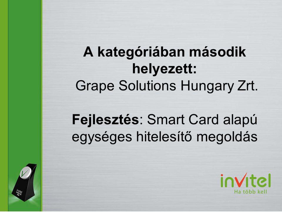 A kategóriában második helyezett: Grape Solutions Hungary Zrt