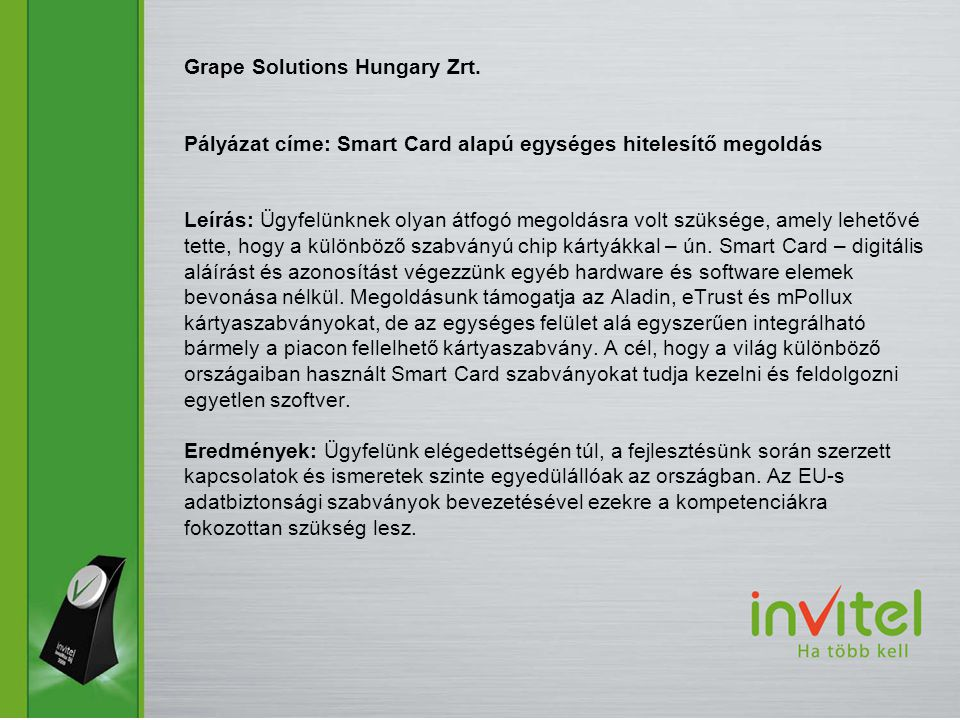 Grape Solutions Hungary Zrt