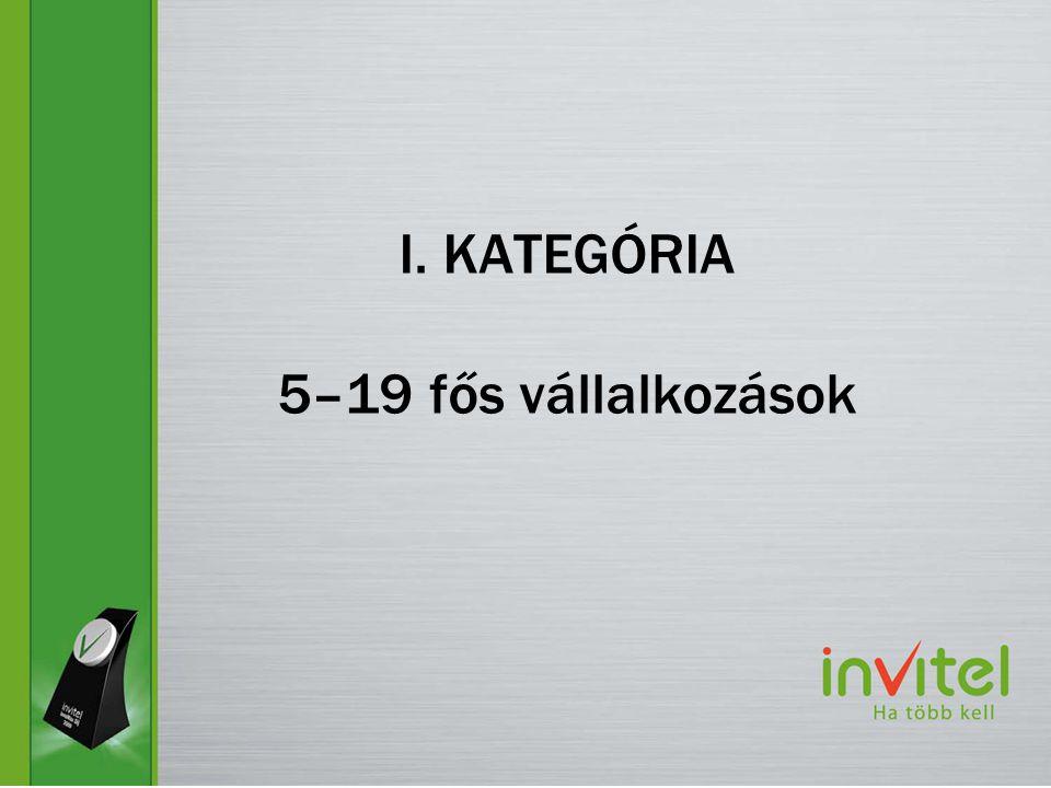 I. KATEGÓRIA 5–19 fős vállalkozások
