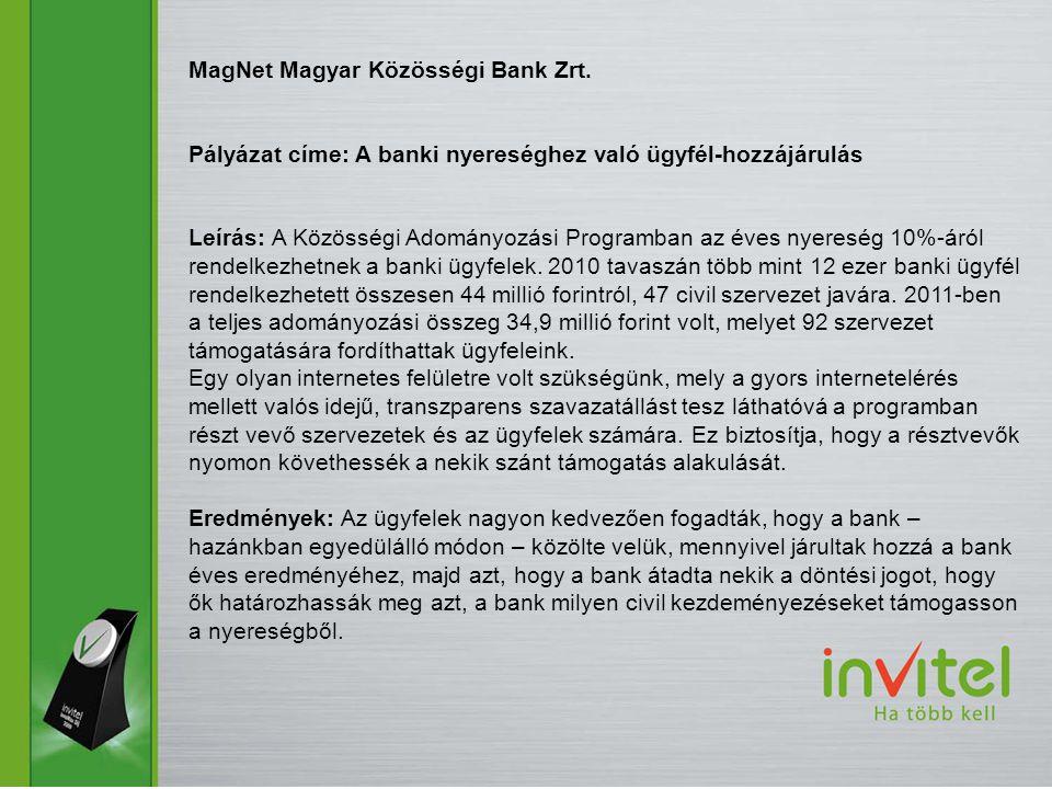 MagNet Magyar Közösségi Bank Zrt.