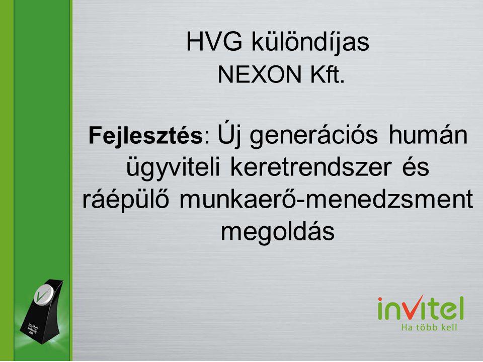 HVG különdíjas NEXON Kft