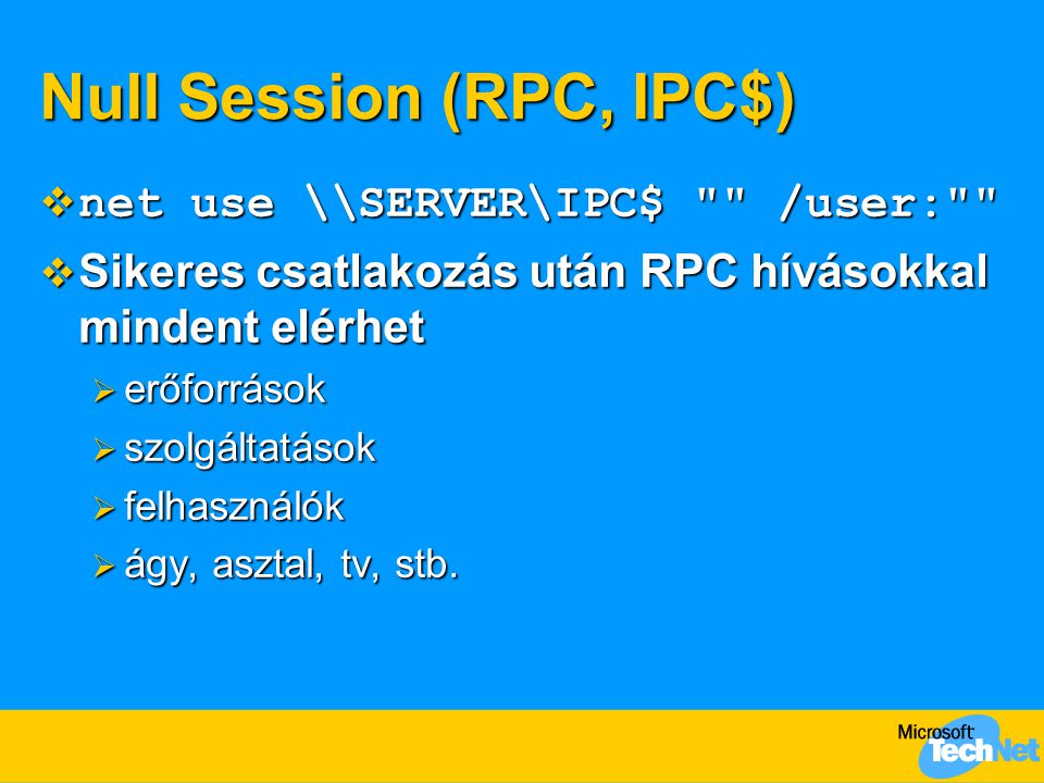 Null Session (RPC, IPC$)