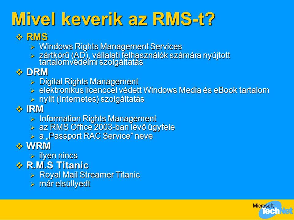 Mivel keverik az RMS-t RMS DRM IRM WRM R.M.S Titanic