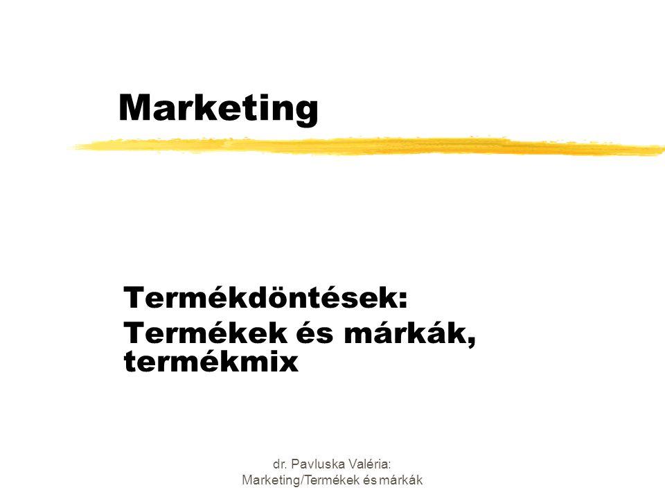 Termékdöntések: Termékek és márkák, termékmix