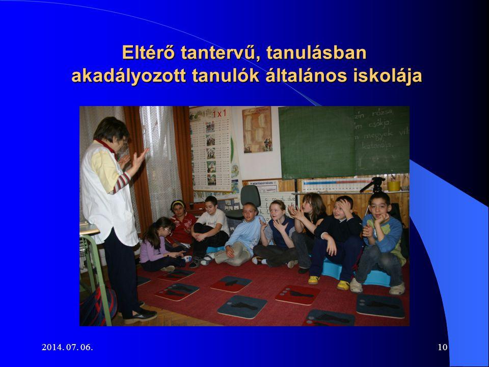 Eltérő tantervű, tanulásban akadályozott tanulók általános iskolája