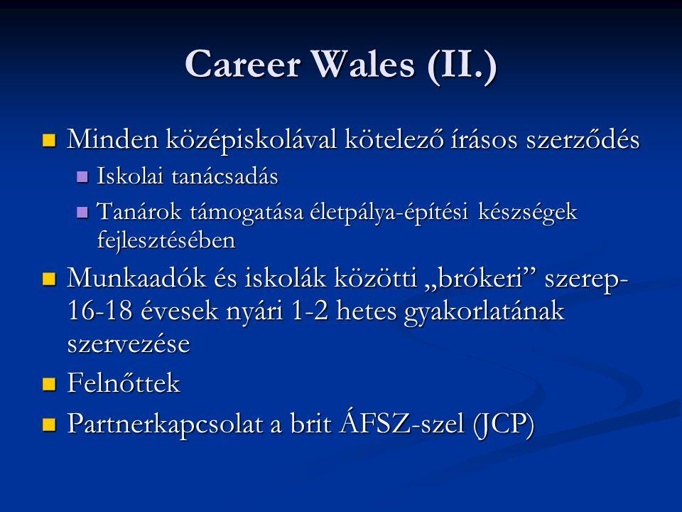 Career Wales (II.) Minden középiskolával kötelező írásos szerződés