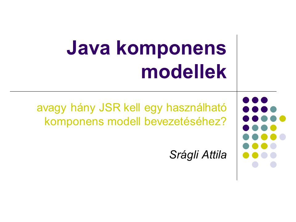Java komponens modellek