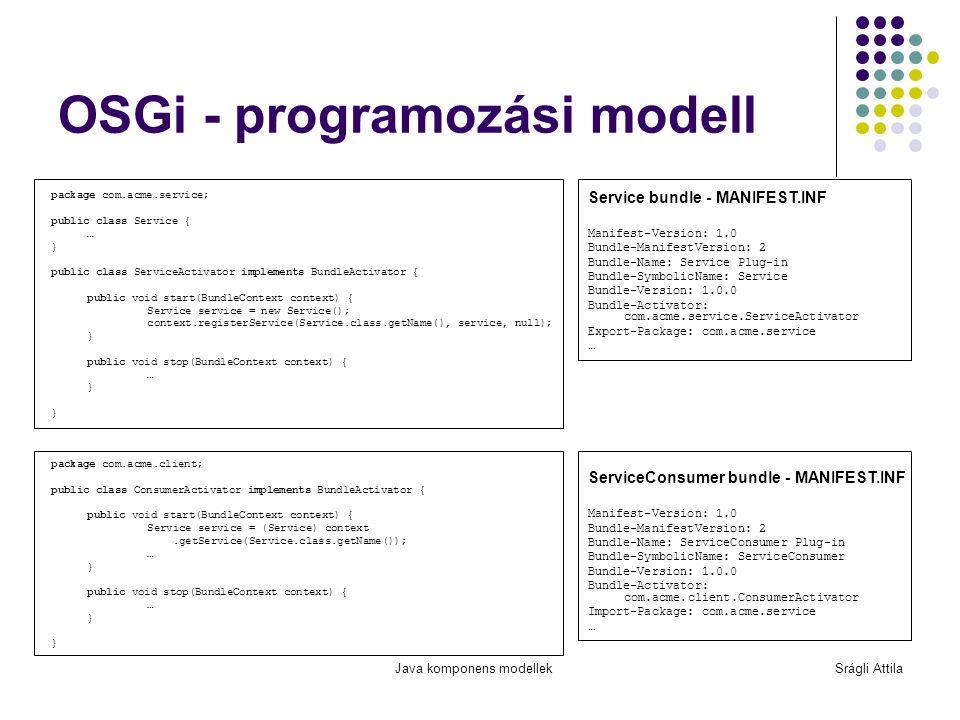 OSGi - programozási modell