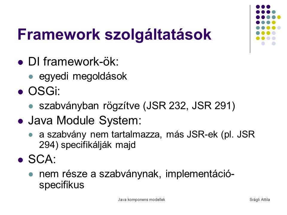 Framework szolgáltatások