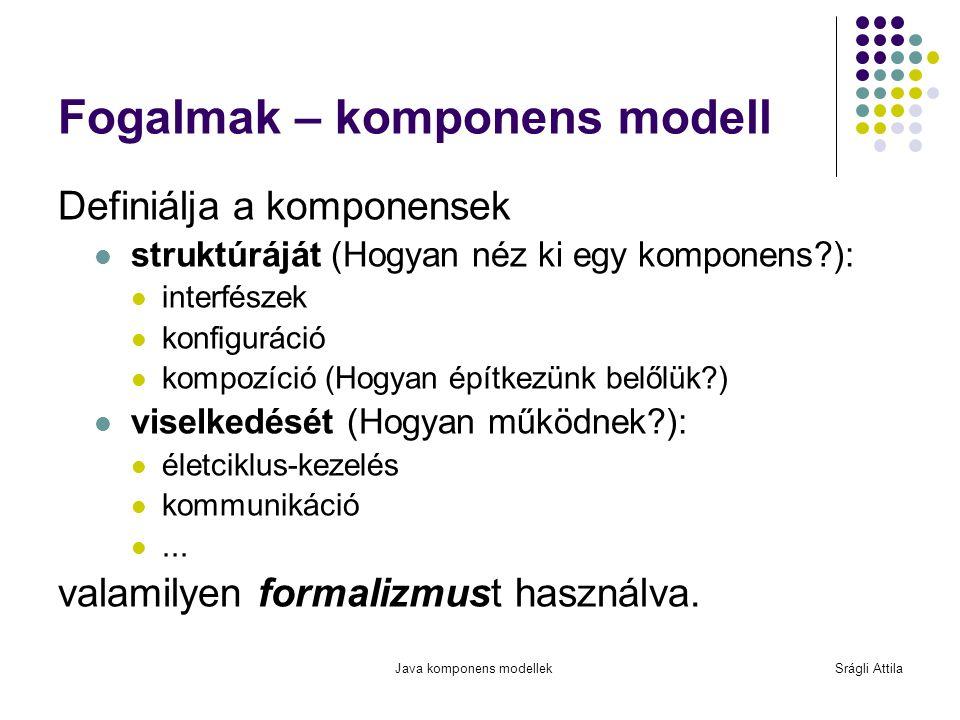 Fogalmak – komponens modell