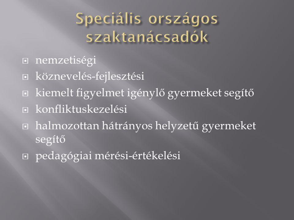 Speciális országos szaktanácsadók
