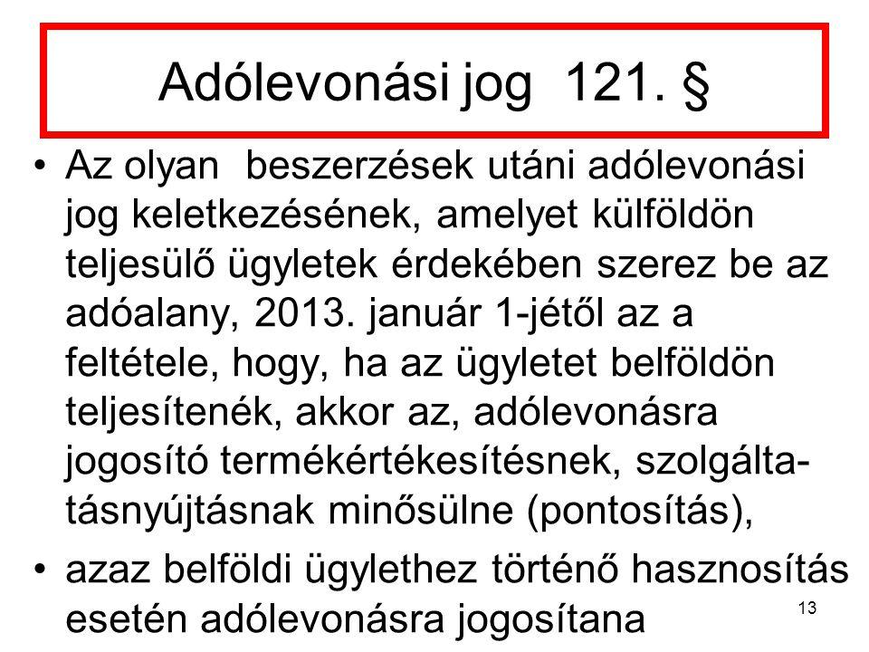 Adólevonási jog 121. §