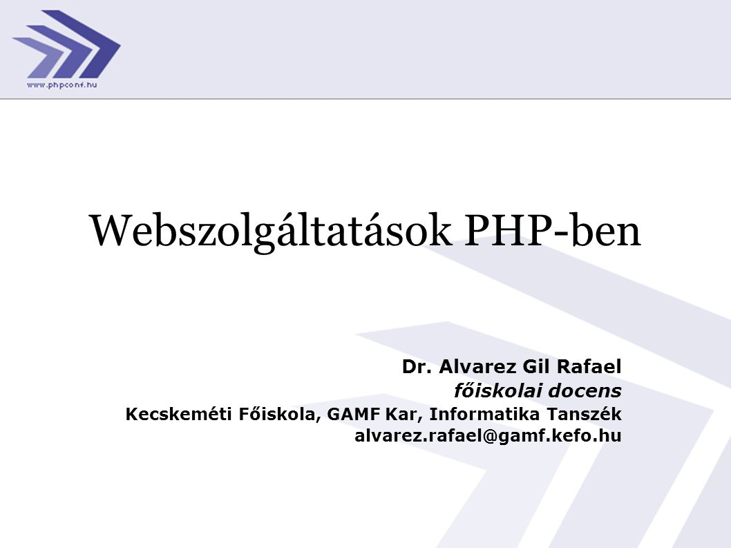 Webszolgáltatások PHP-ben