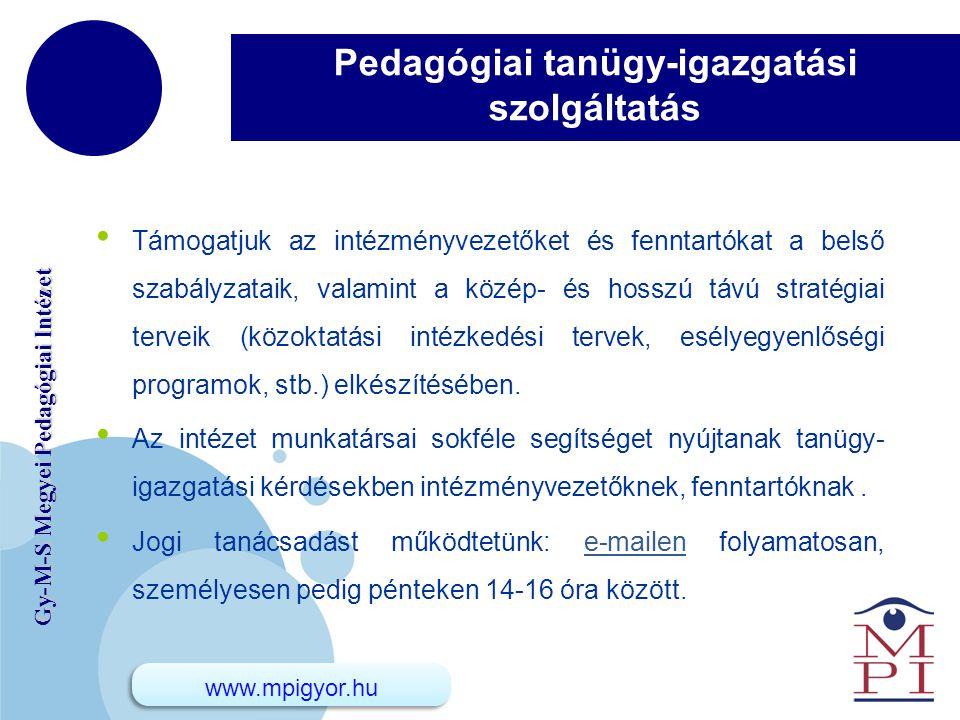 Pedagógiai tanügy-igazgatási szolgáltatás