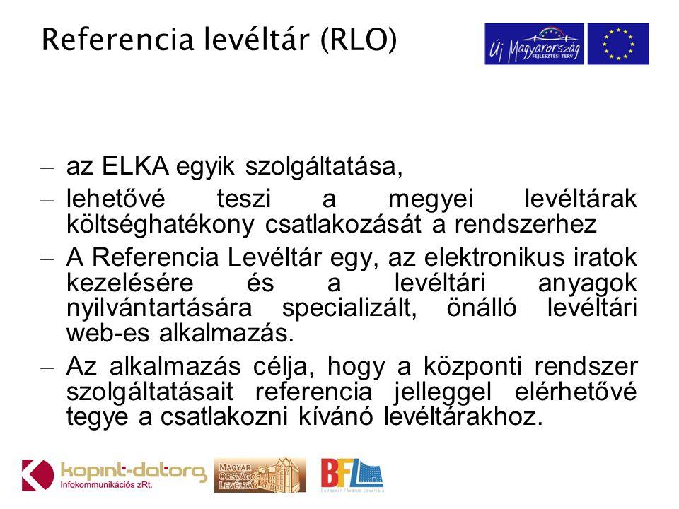 Referencia levéltár (RLO)