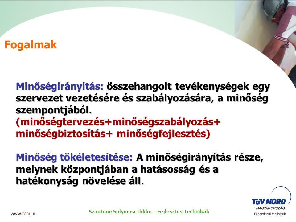 Szántóné Solymosi Ildikó – Fejlesztési technikák