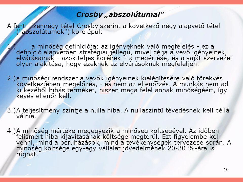 """Crosby """"abszolútumai"""